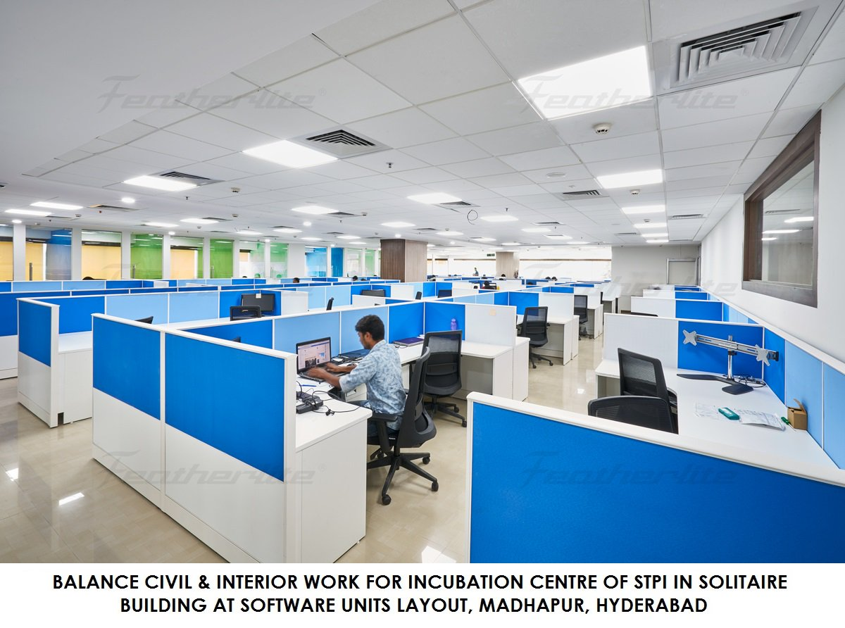 Balance Civil & Interior Work for Incubation Center of STPI in Solitaire Building at Software Units layout, Madhapur, #Hyderabad . Executed by Hyderabad Zone, #NPCC Limited.  #BoondBoondSeSagar #EveryDropCounts #savewater