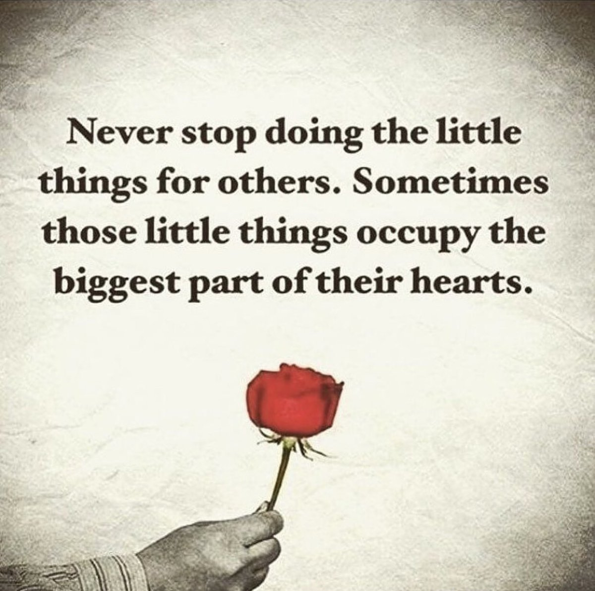 Little things matter! Touch a heart today! 😊❤️