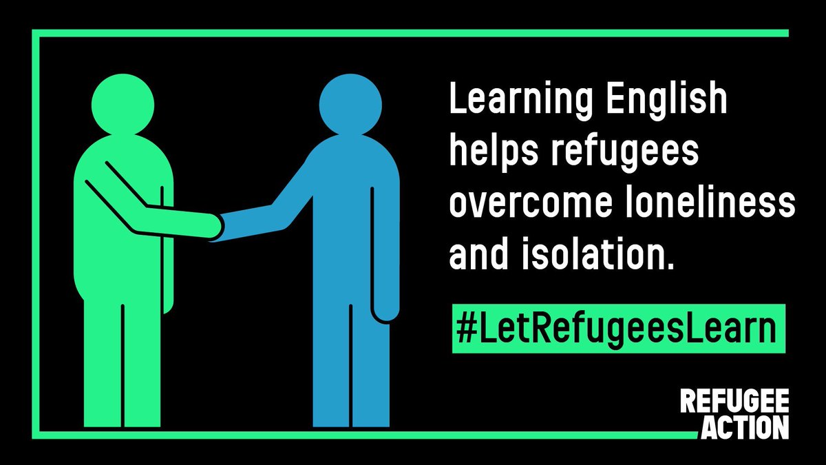 Refugees who have found safety in UK want to learn English Government says they want them to learn - but then cuts the funding for classes & support Everyone seeking refuge here should have chance to learn English Join campaign to #LetRefugeesLearn bit.ly/31naApN