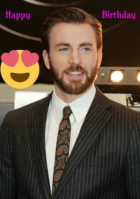 Happy birthday to my favourite actor chris evans.may you sore highest be it success,love or happiness.