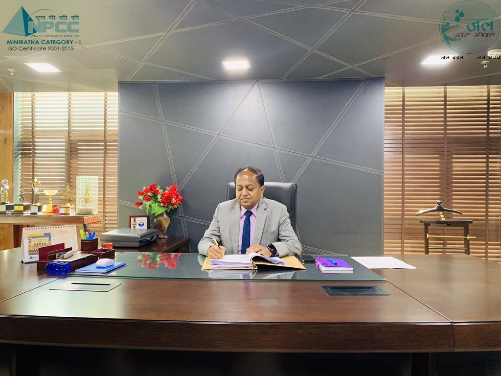 Shri R.K. Gupta, CMD, @WapcosOfficial takes over Additional Charge of CMD, #NPCC Limited at Corporate Office, #Gurugram . #BoondBoondSeSagar #EveryDropsCounts #savewater