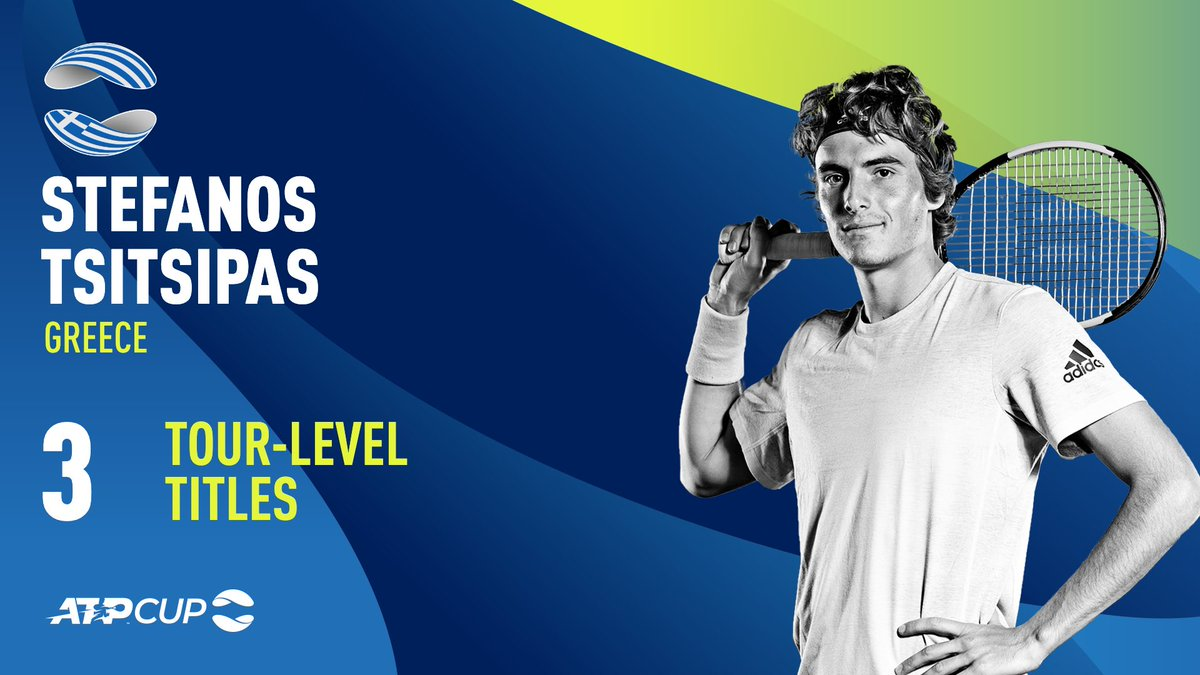 Now #6 in the ATP Rankings...  Will @StefTsitsipas help 🇬🇷 go deep at the #ATPCup? 🏆