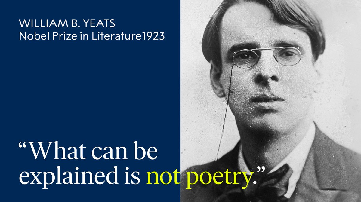 Considered one of the world's greatest poets, Nobel Laureate W.B. Yeats was born #OnThisDay in 1865.