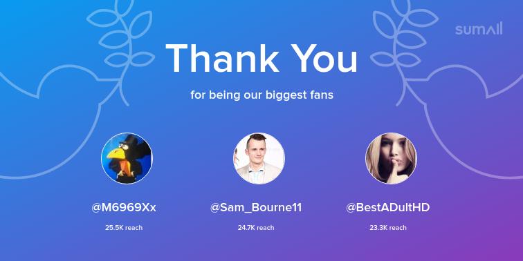 test Twitter Media - Our biggest fans this week: M6969Xx, Sam_Bourne11, BestADultHD. Thank you! via https://t.co/i5D4iuvNnN https://t.co/aDeFW1jDpX