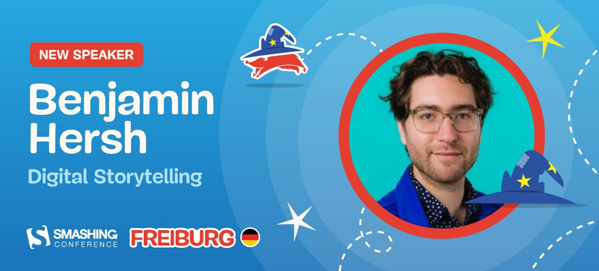 Benjamin Hersh will be joining us in Freiburg! Ben designs to make the world a more thoughtful and creative place. Failed zookeeper, but successful product designer at Dropbox ;-) We're looking forward to see him speak! smashingconf.com/freiburg-2019/…