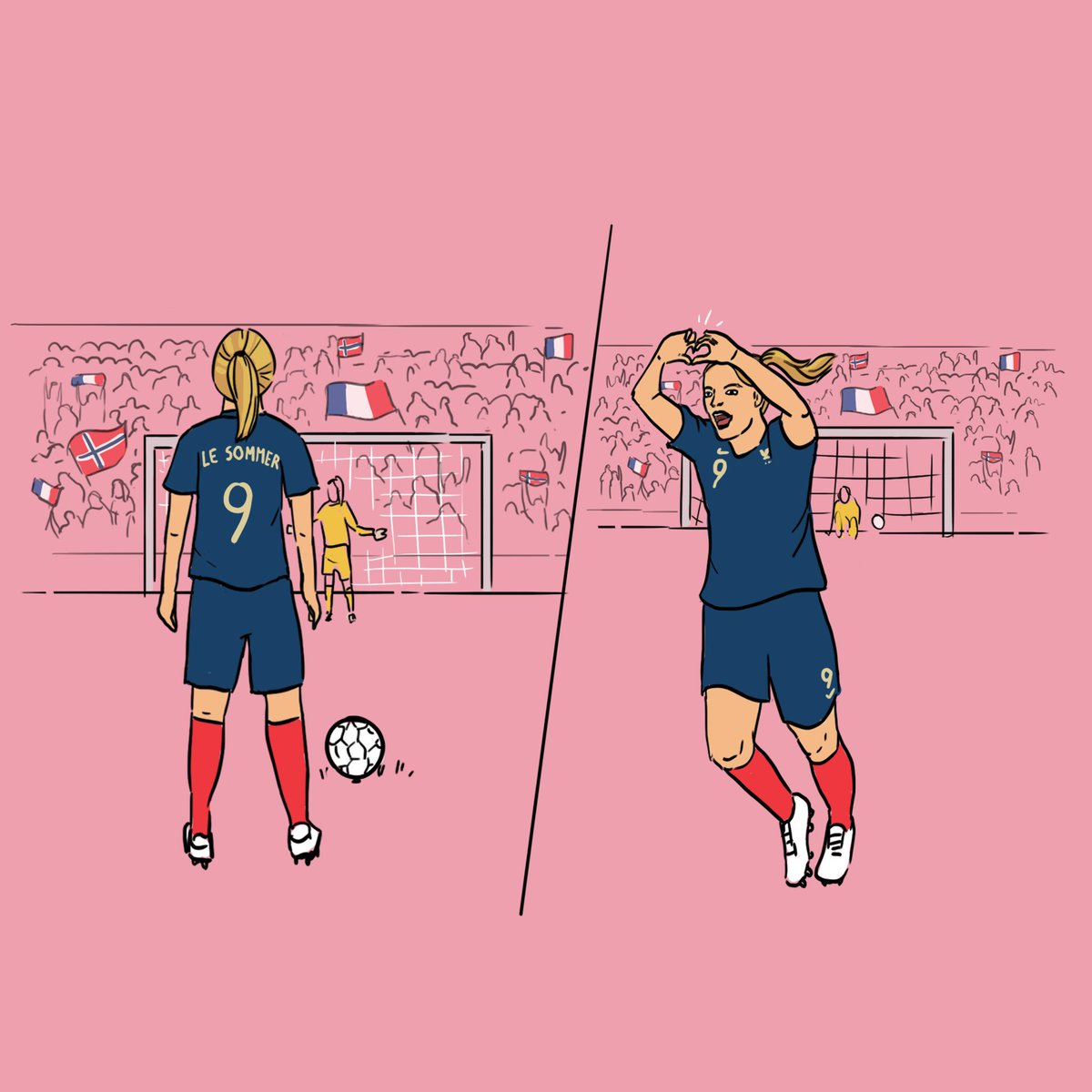 That moment... when you stand to take a penalty in a World Cup match at home. Nailed it!   Together #WePlayStrong #FIFAWWC #FRANOR <br>http://pic.twitter.com/p5EMHBWNhI