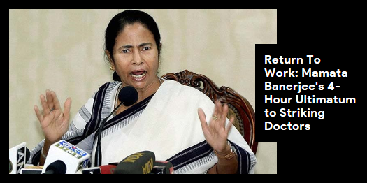Lead story now on http://ndtv.com: The doctors raised ''we want justice'' slogans before Ms Banerjee https://www.ndtv.com/india-news/mamata-banerjee-issues-4-hour-ultimatum-to-junior-doctors-in-bengal-protesting-over-attack-on-collea-2052539…#NDTVLeadStory
