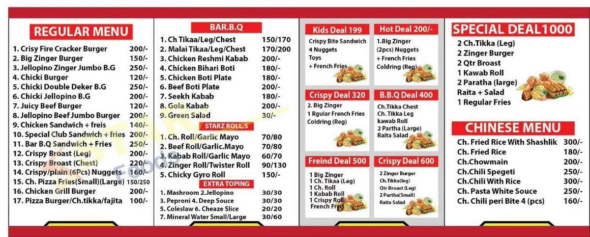 @IramFarhanPK Starz foods