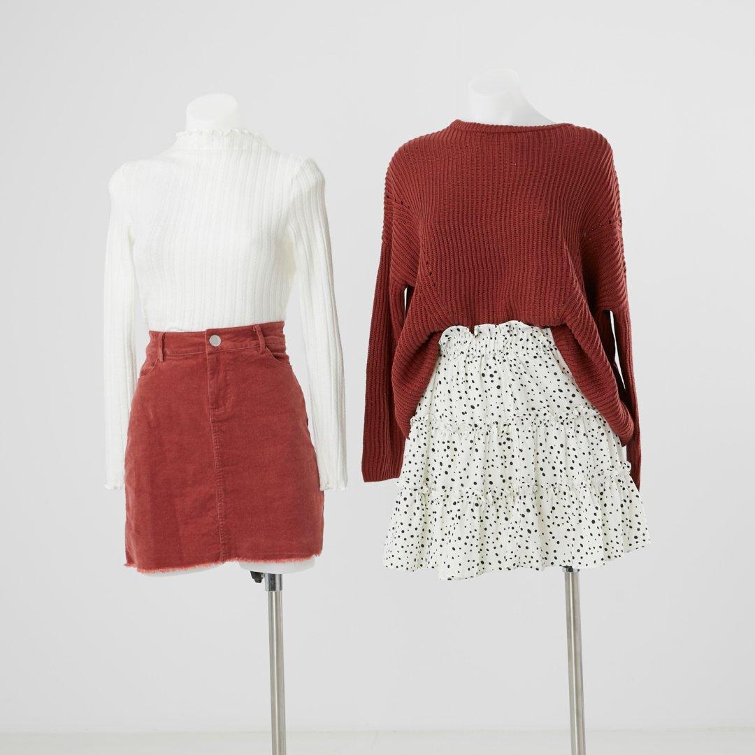 Colour crush 🍂❤️ Our frill hem rib knit, corduroy skirt, eyelet panel chenille knit + online exclusive frill detail polka dot skirt.   https://t.co/FJsE8hQxWO https://t.co/ytHkGS274a https://t.co/DDDZjN6cUo https://t.co/rqPjrzlmGK https://t.co/ovRievVxnx