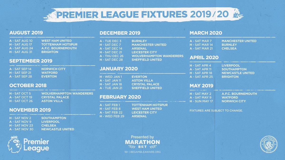 Calendrier City.Manchester City Fr On Twitter Le Calendrier De