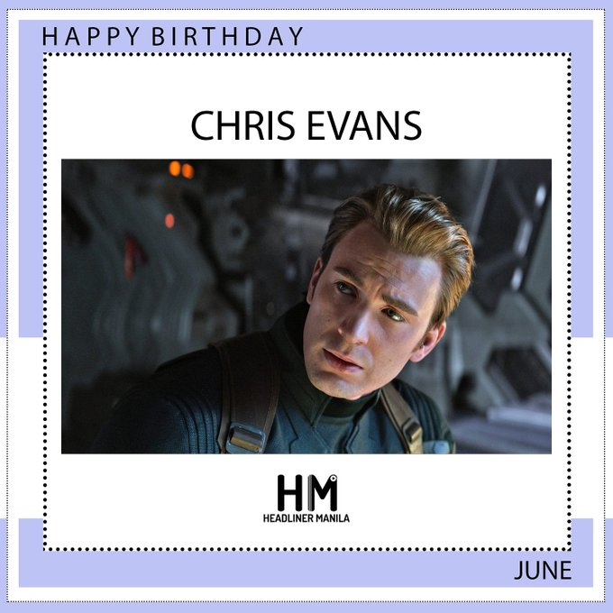 Happy birthday our Captain America, Chris Evans!
