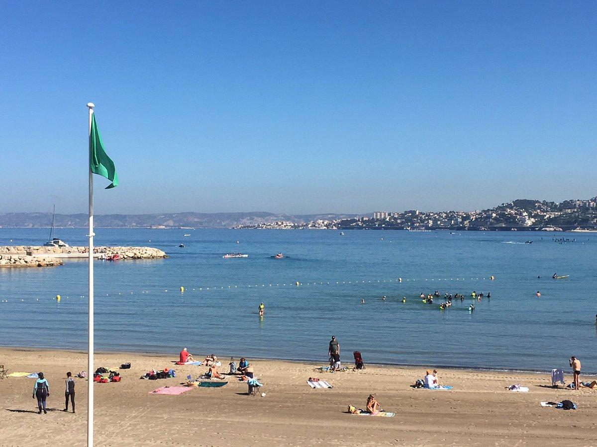 Drapeau vert et baignade sportive à la Pointe-Rouge #Marseille