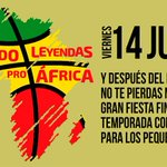 Image for the Tweet beginning: El partido Leyendas Pro África