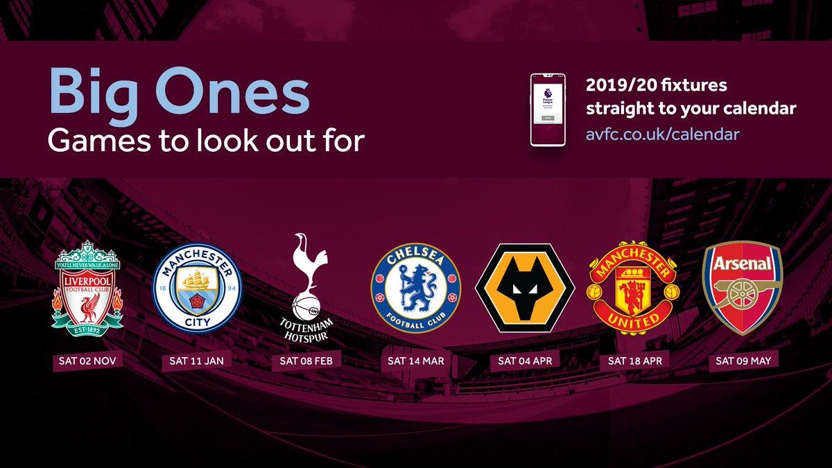 The big ones at Villa Park... 😋 #PLfixtures #AVFC