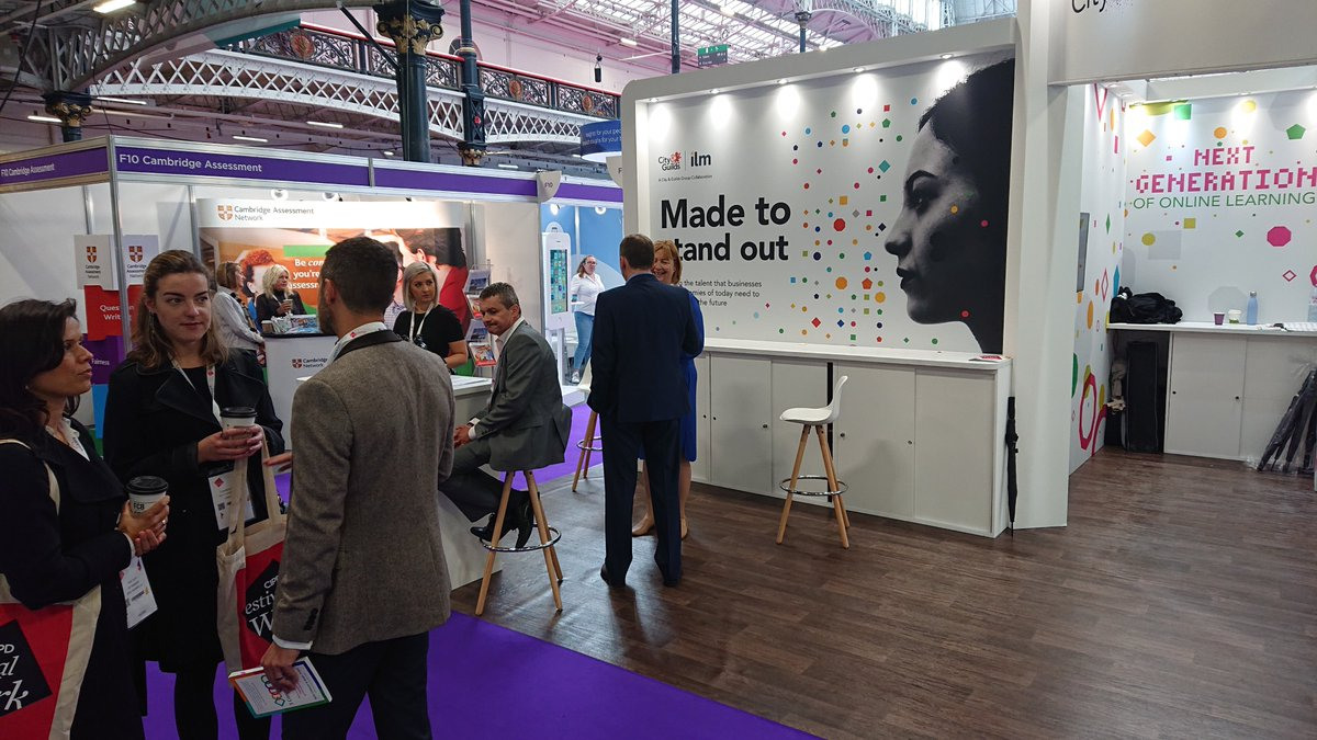 DAY TWO✌️of the #FestivalofWork @CIPD_Events. Remember to take advantage of our dedicated team of @CityGuildsGroup advisors, to discuss your needs. @kineo @The_OxfordGroup Stand F20.