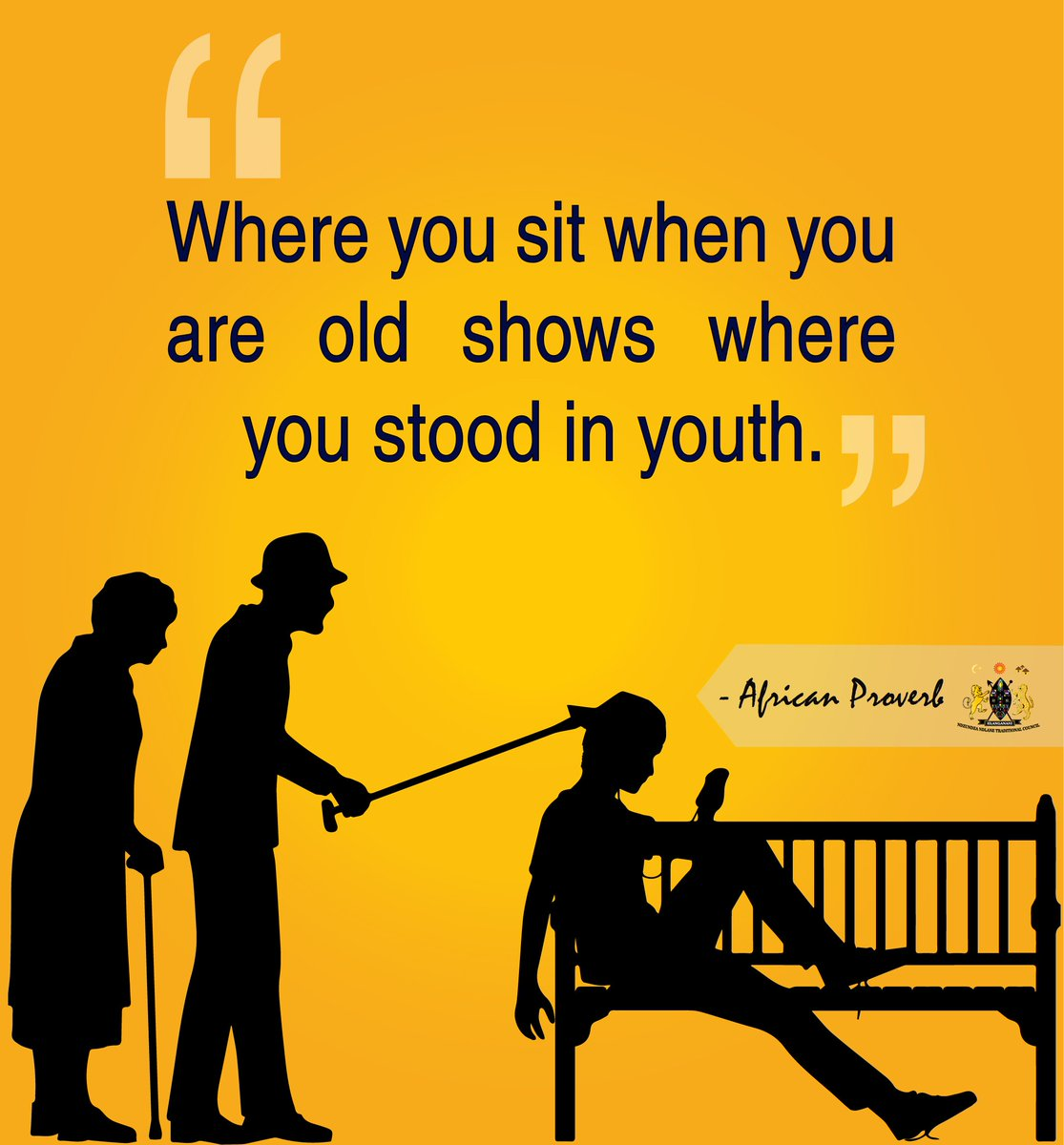 Where you sit when you are old shows where you stood in youth @AfricanProvrbs   #motivationalquote <br>http://pic.twitter.com/UNCzsR1lbm
