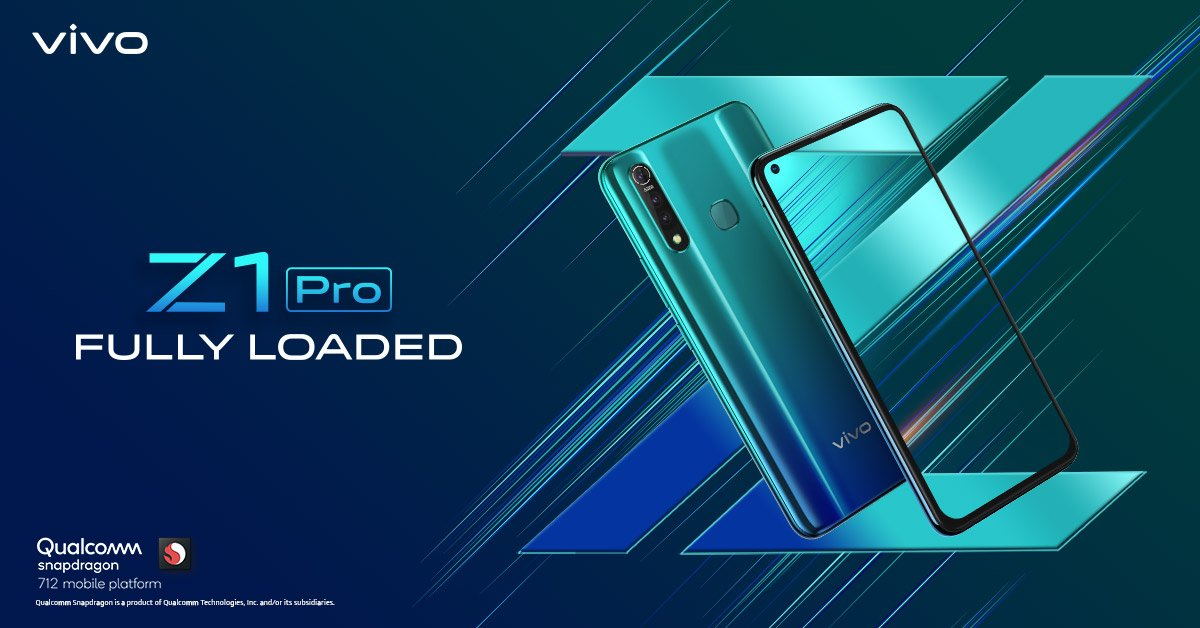 Vivo Z1 Pro With Punch-Hole Display,Snapdragon 712 Soc Will Launch On 3 July In India,See Details
