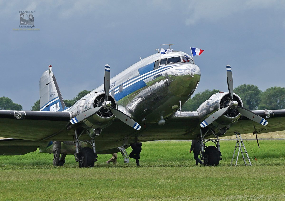 🛩️ #Caen #Carpiquet #Dc3 #C47 #AvGeek #DDay75 #DaksOverNormandy  June 7, ©Planes Of Legend. Caen-Carpiquet, France. (C-47A-75-DL C / N 19309 s / n 42-100846 OH-LCD) https://www.daksovernormandy.com/aircraft/dc-3a-oh-lch…