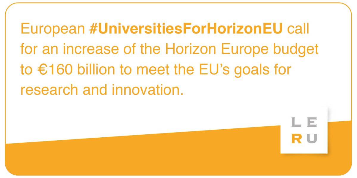Investing in #education & #research in Europe means investing in people -especially youth- and developing much needed human talent and capital. The EU should increase the #HorizonEU budget to address its many challenges and to secure its future. #UniversitiesForHorizonEU #ECOFIN