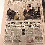 Image for the Tweet beginning: Stark nedgång för kvinnors entreprenörskap