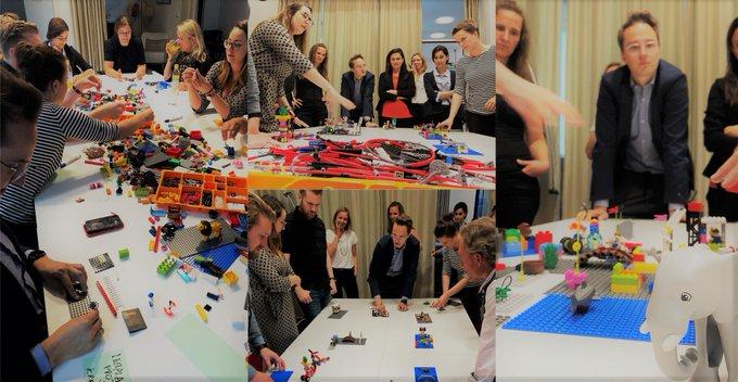 Seriöses Spiel!<br>Mit Lego® Serious Play® können wir Lösungswege in der Prozessentwicklung kreativ und effektiv erarbeiten - Impressionen vom Workshop in #München.<br>#Lego t.co/vWkywQCR8s