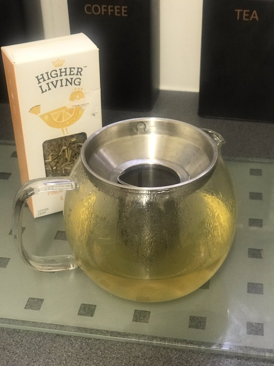 Good Morning TY @higherlivingtea  the pineapple lemon  + aromatic green tea  is a FAB way to start a busy and productive morning .. 6am #WhatDoYouThink #therapist #CarersWeek2019 #mum<br>http://pic.twitter.com/0NJhl3Y58l