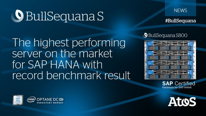 BullSequana S800 becomes the highest-performing server on the market world-wide for SAP HANA...