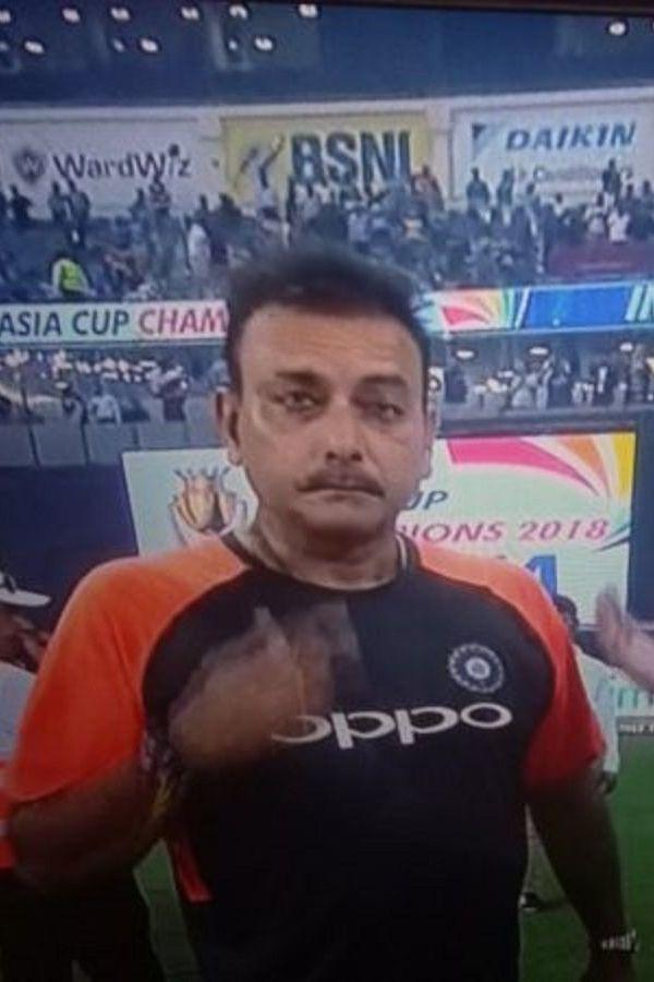 #INDvNZ Reporter: There is too much water...doesnt look good Shastri: Yes, I had told Jadeja to mix less water Reporter: Sir, we are talking about the outfield