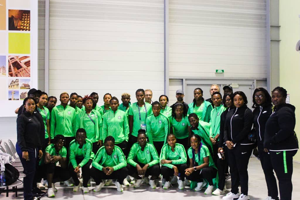 Hello #Rennes, #NGA  @NGSuper_Falcons have arrived! #SoarSuperFalcons #Team9jaStrong  #DareToShine  #FifaWWC <br>http://pic.twitter.com/YAnoWzWtXW