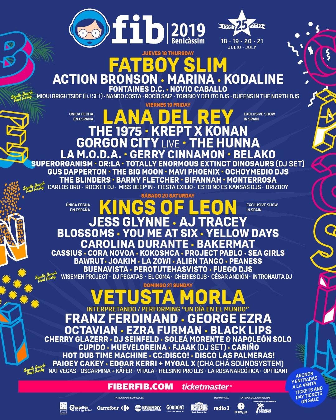FIB Benicàssim 2019: Vetusta Morla, Fatboy Slim, KOL, Lana Del Rey, MARINA, Cassius, Black Lips - Página 22 D87slLwXkAI1mkq
