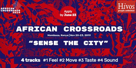 Would you like to join a community of Africans working to positively shape the future of African cities through #art, #technology, #design and #entrepreneurship? Then apply for the 2nd edition of our #AfricanCrossroads gathering: https://www.hivos.org/news/would-you-like-to-help-shape-africas-cities/… Deadline June 23, 2019!