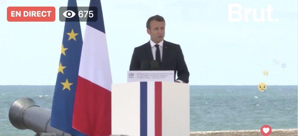 🔴 DIRECT - Lhommage aux sauveteurs héroïques disparus en mer aux Sables-dOlonne : discours dEmmanuel Macron facebook.com/brutofficiel/v…