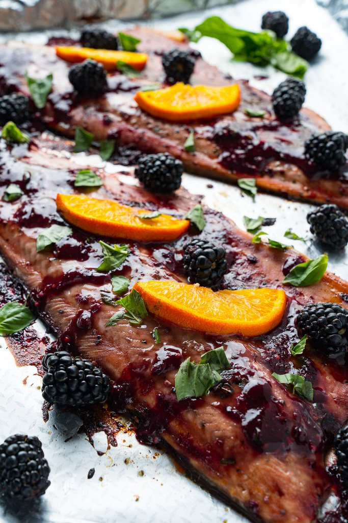 Try this: Blackberry Balsamic Trout http://bit.ly/2MKELE4  #cooking #recipe