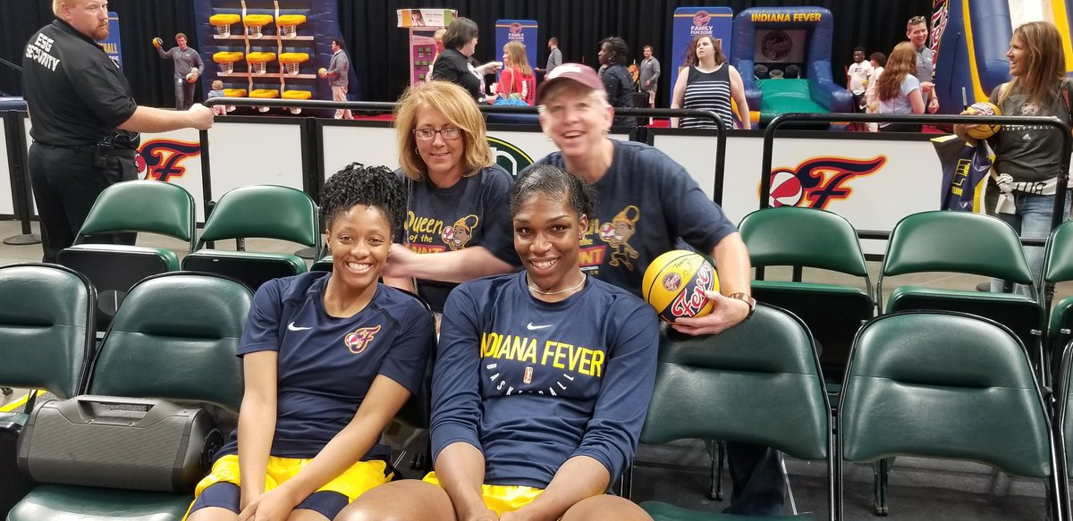 We went to a block party @Teaira_15 .  #indianafever #wnba
