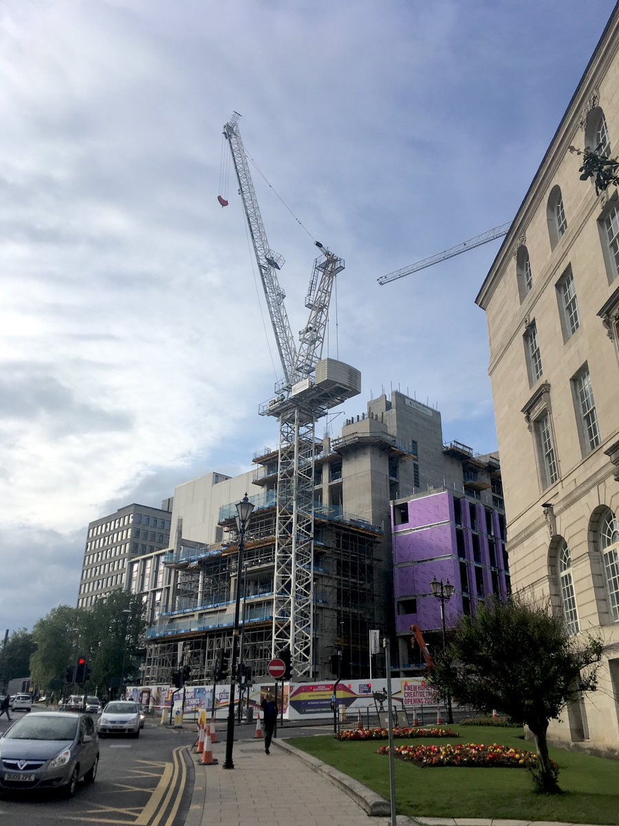 Latest pics of work progressing well on the new @leedsbeckett Creative Arts Building. With music & dance studios, performance theatres & state of the art cinema as well as all the associated production facilities. A great city-center addition to Leeds arts & culture scene.