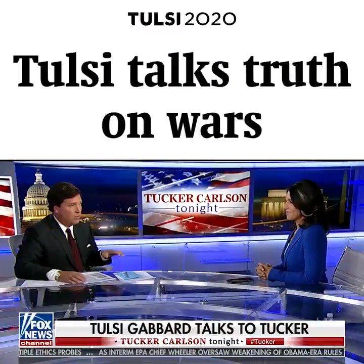 Tulsi talks truth on wars! #Tulsi2020