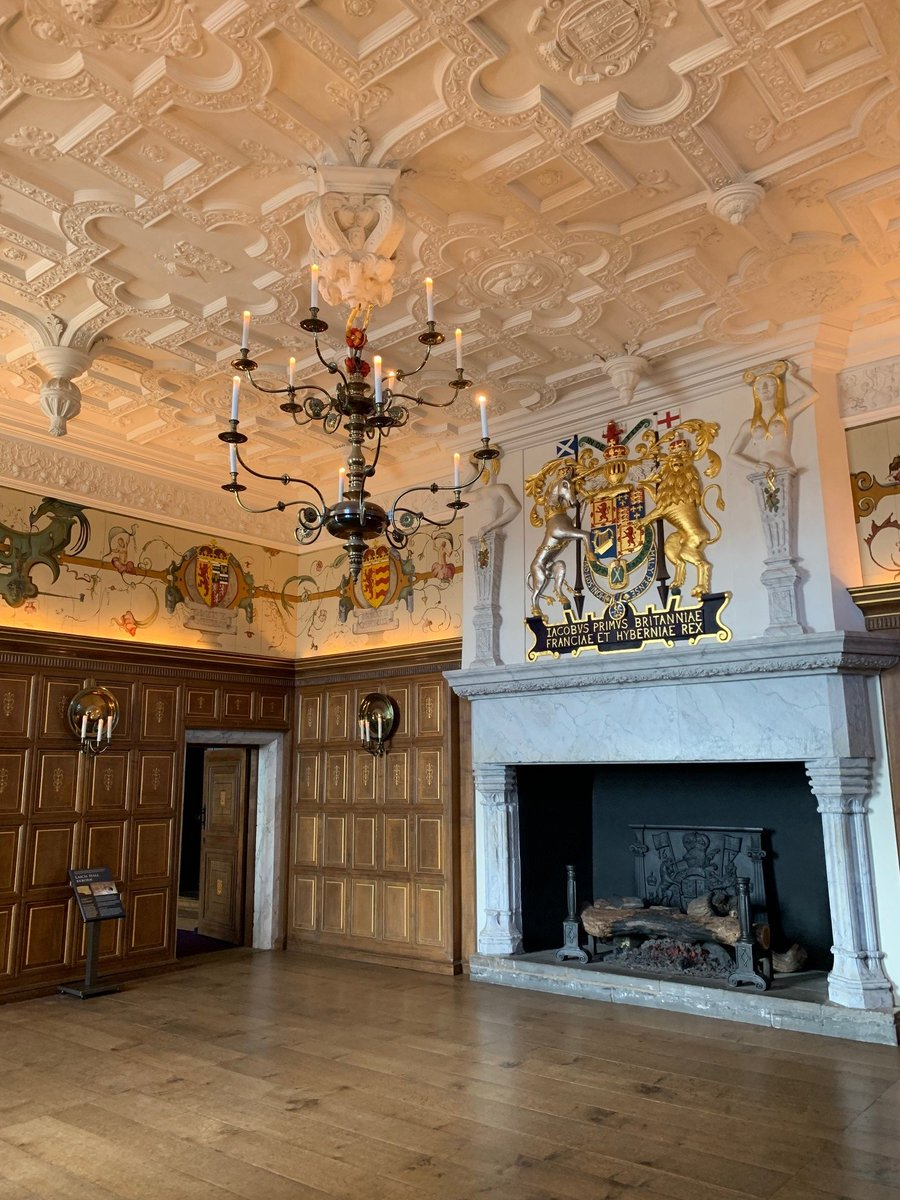 Theres a lot to see at the castle, even on a rainy day like today. 🏰☔ Heres a look inside the Laich Hall, transformed into its current glory for the visit of James VI to Edinburgh Castle in 1617.
