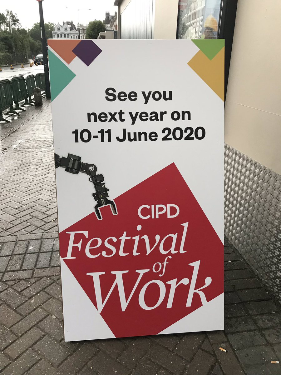 Well, #Festivalofwork it's been a pleasure! Absolutely wowed by that final keynote. See you next year. Now time for #holidays!