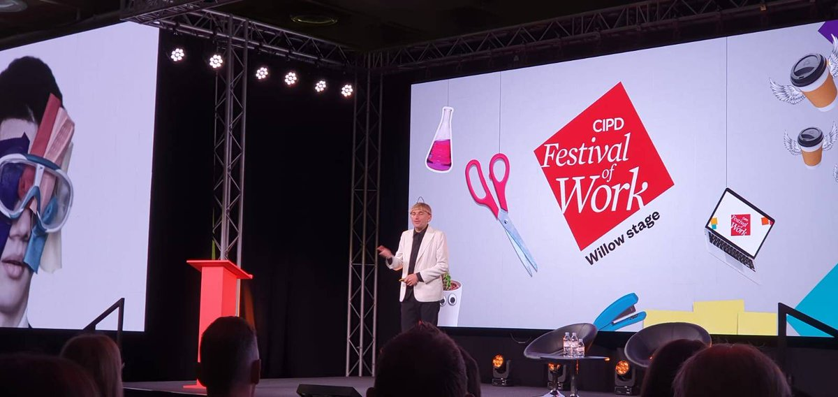 .@NeilHarbisson talks about his antenna and how it has become an organ. #FestivalofWork #futureofwork