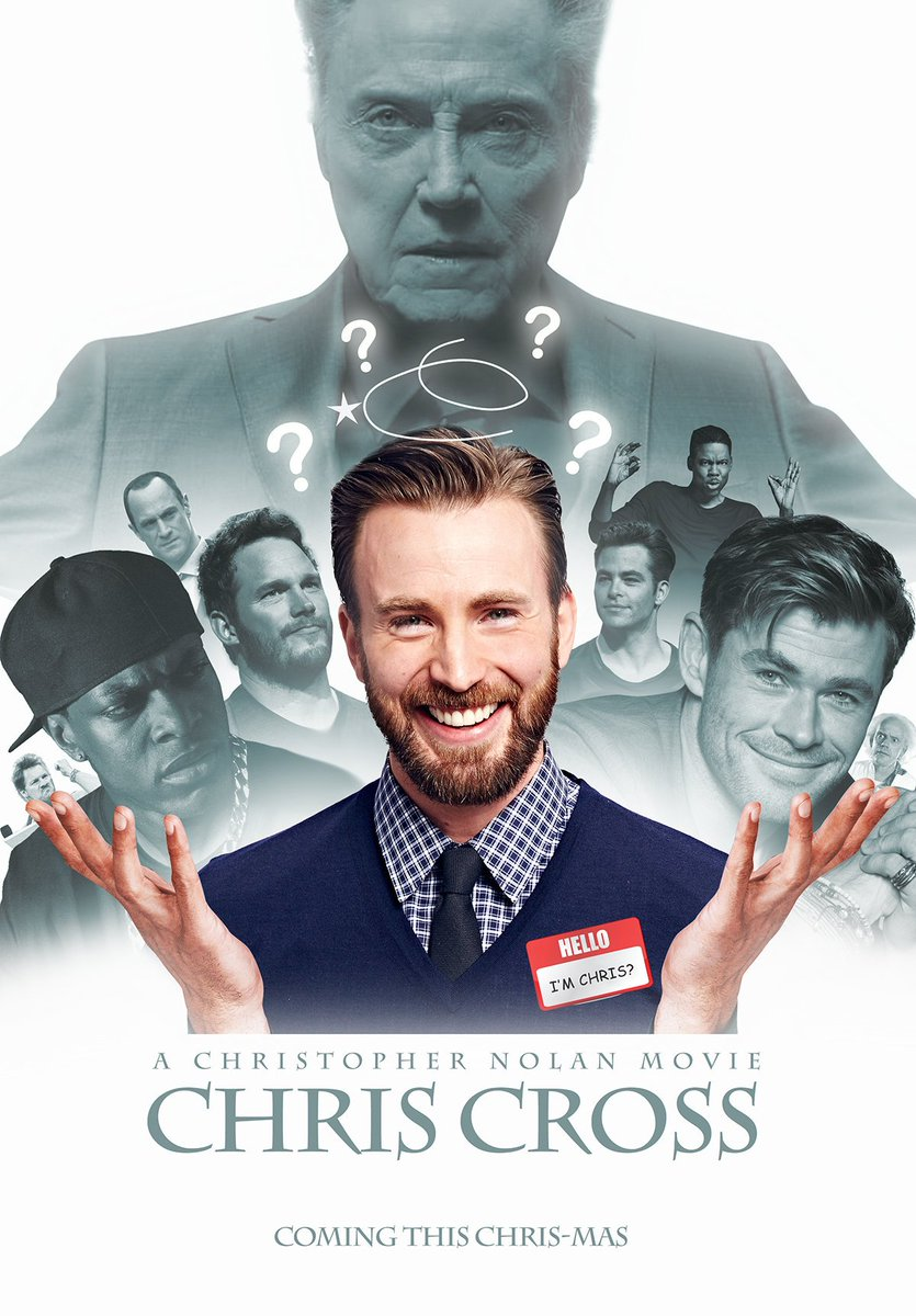 On @ChrisEvans 38th birthday a chain of mysterious events started to occur ultimately leading up to him waking up as a different Chris, stuck in a loop replaying the same day as a different Chris every time he wakes up. #HappyBirthdayChrisEvans