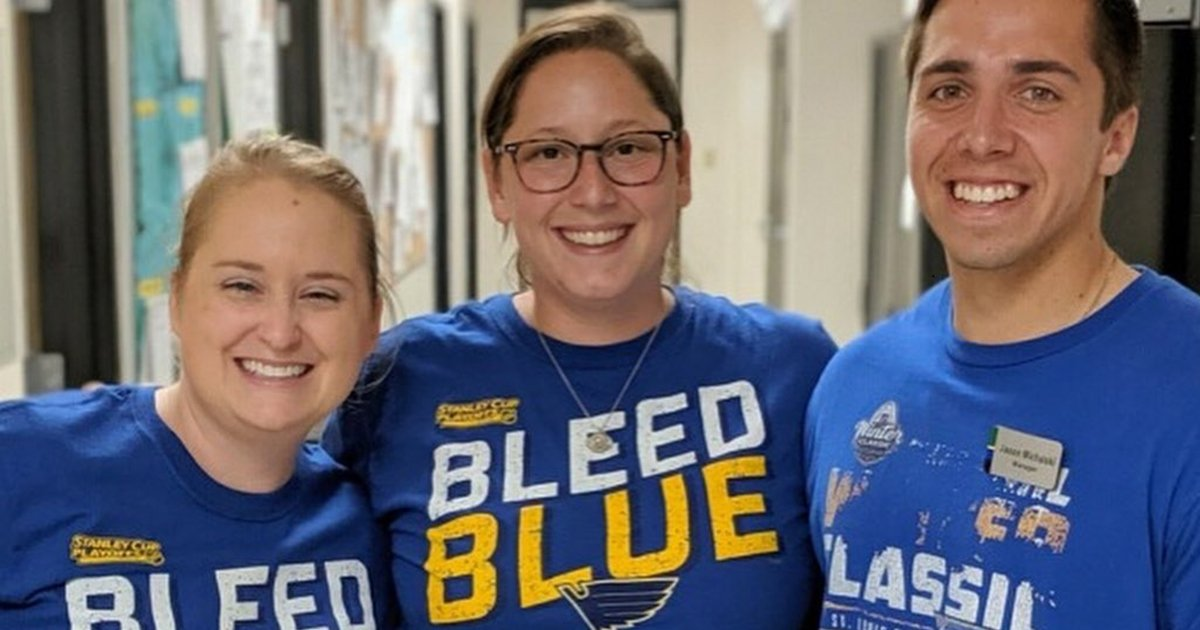 At Enterprise HQ in STL today it's all smiles and pride for our hometown team! After an amazing year at @Enterprise_Cntr, we're so proud of the @StLouisBlues for winning the #StanleyCup! 🎊 🏒💙 #WeAllBleedBlue #STLProud #STLMade
