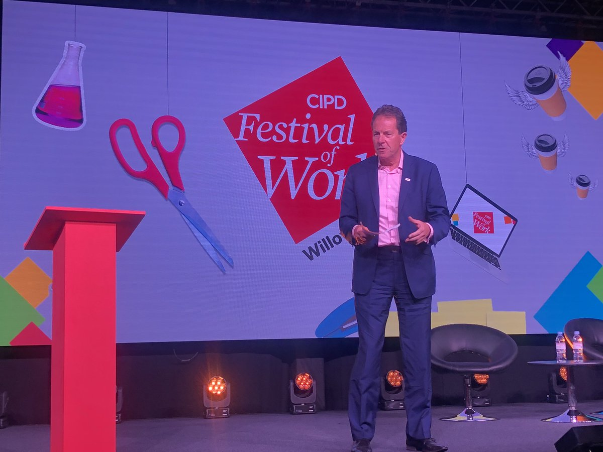 Closing remarks from @Cheese_Peter, Chief Executive @CIPD | A great 2 days at the inaugural #FestivalofWork 🙌🎉