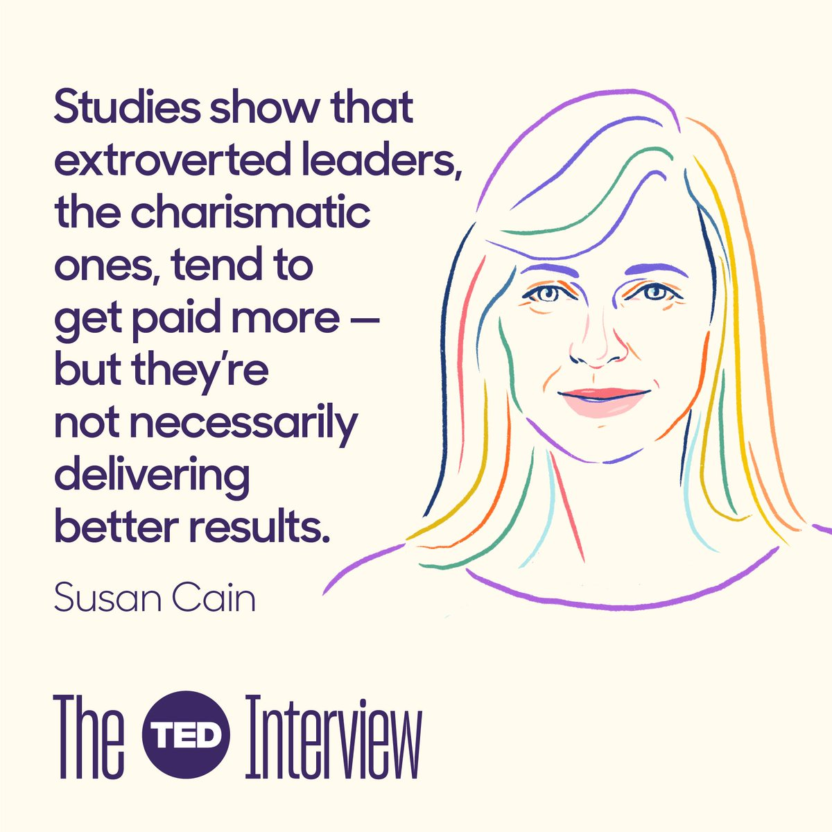 Really important point made by @susancain in latest episode of #TheTEDInterview http://bit.ly/2JRTk5w ...