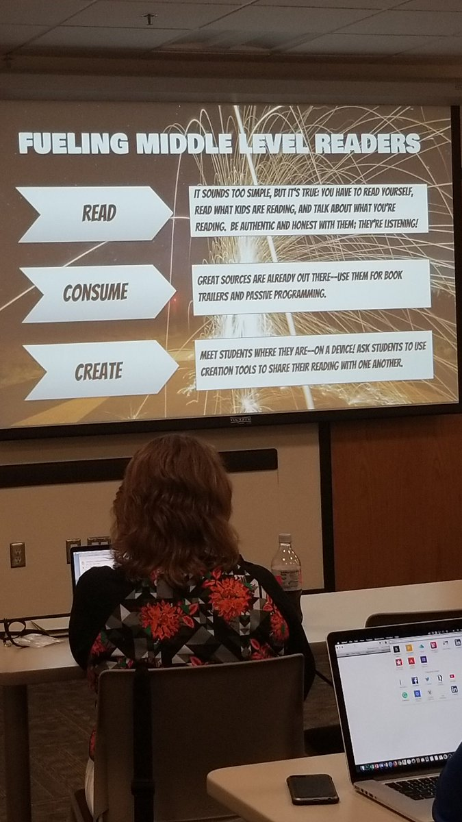Ways to fuel middle level readers. Great ideas from @ccls531 #HAEAinnovate