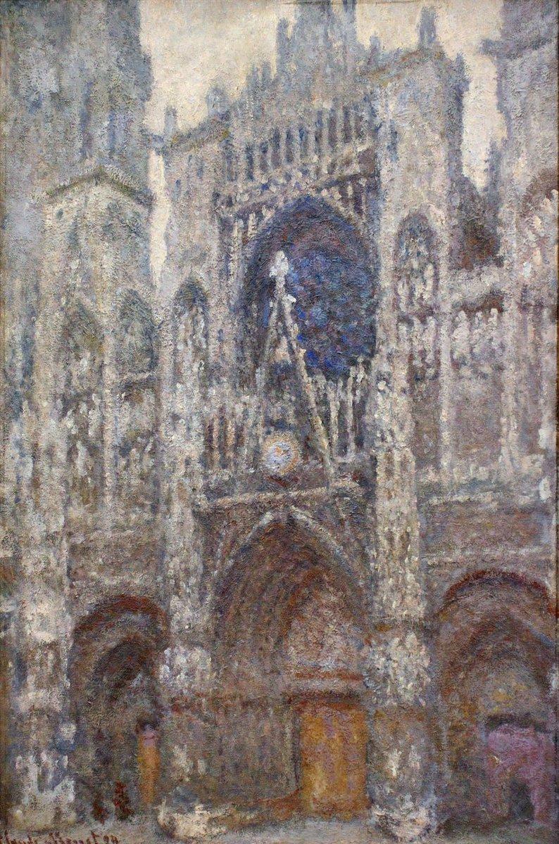 Rouen Cathedral, Grey Weather, 1894 #impressionism #claudemonet<br>http://pic.twitter.com/U2E1KMERzz