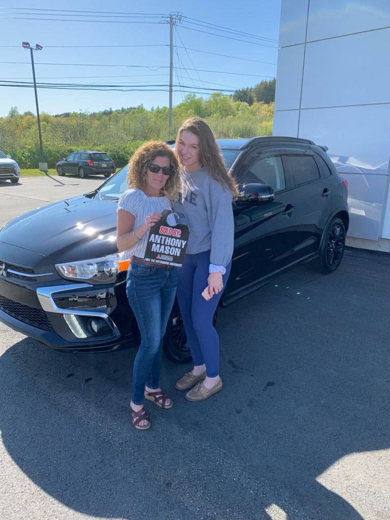 Huge Mitsu congratulations to the beautiful Kallar ladies!  Welcome to our family, we are honoured to have you!  #Mitsubishi # Smiles #RVR #LochLomondMitsubishi #dynamicduo