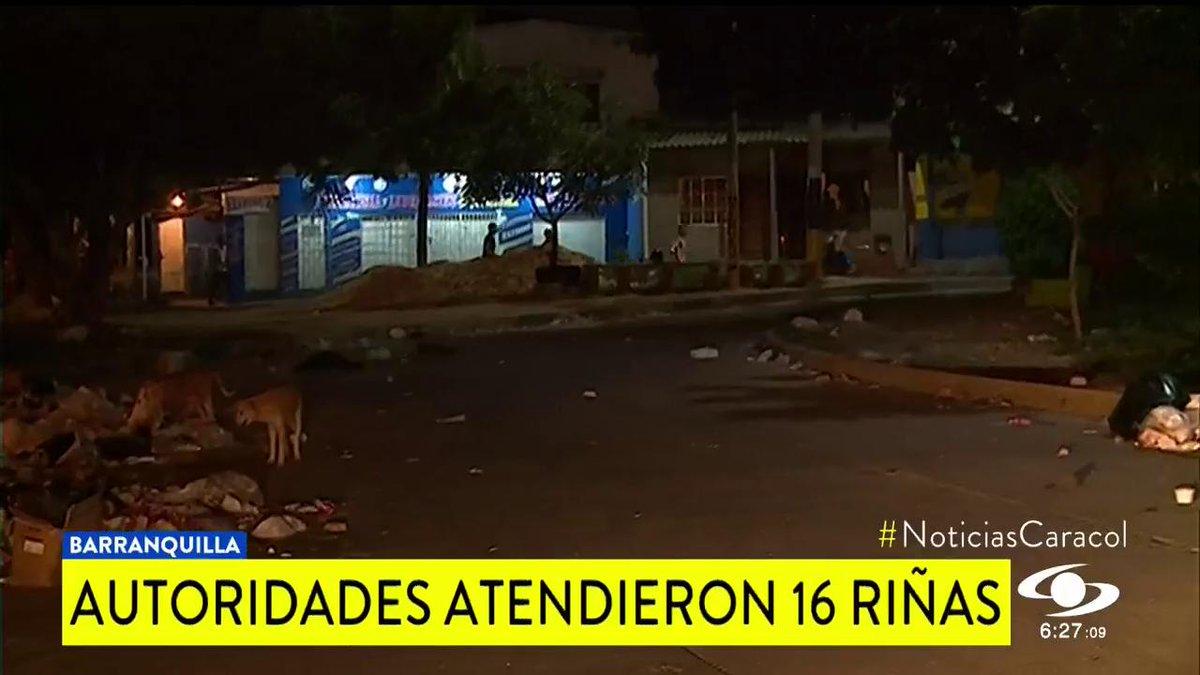 #OjoDeLaNoche Autoridades de Barranquilla atendieron 16 riñas en medio de celebración por nueva estrella del Junior http://noticiascaracol.com