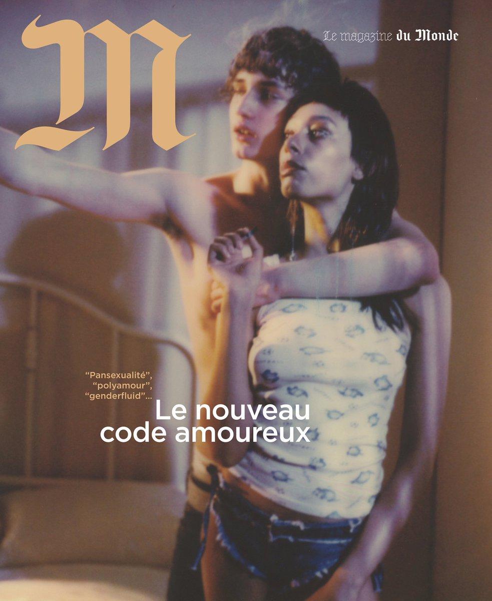 A la une de «M Le magazine du Monde» en kiosque demain: Pansexualité, polyamour, genderfluid… Le nouveau code amoureux par Judith Perrignon | Photo @petracollins pour «M»