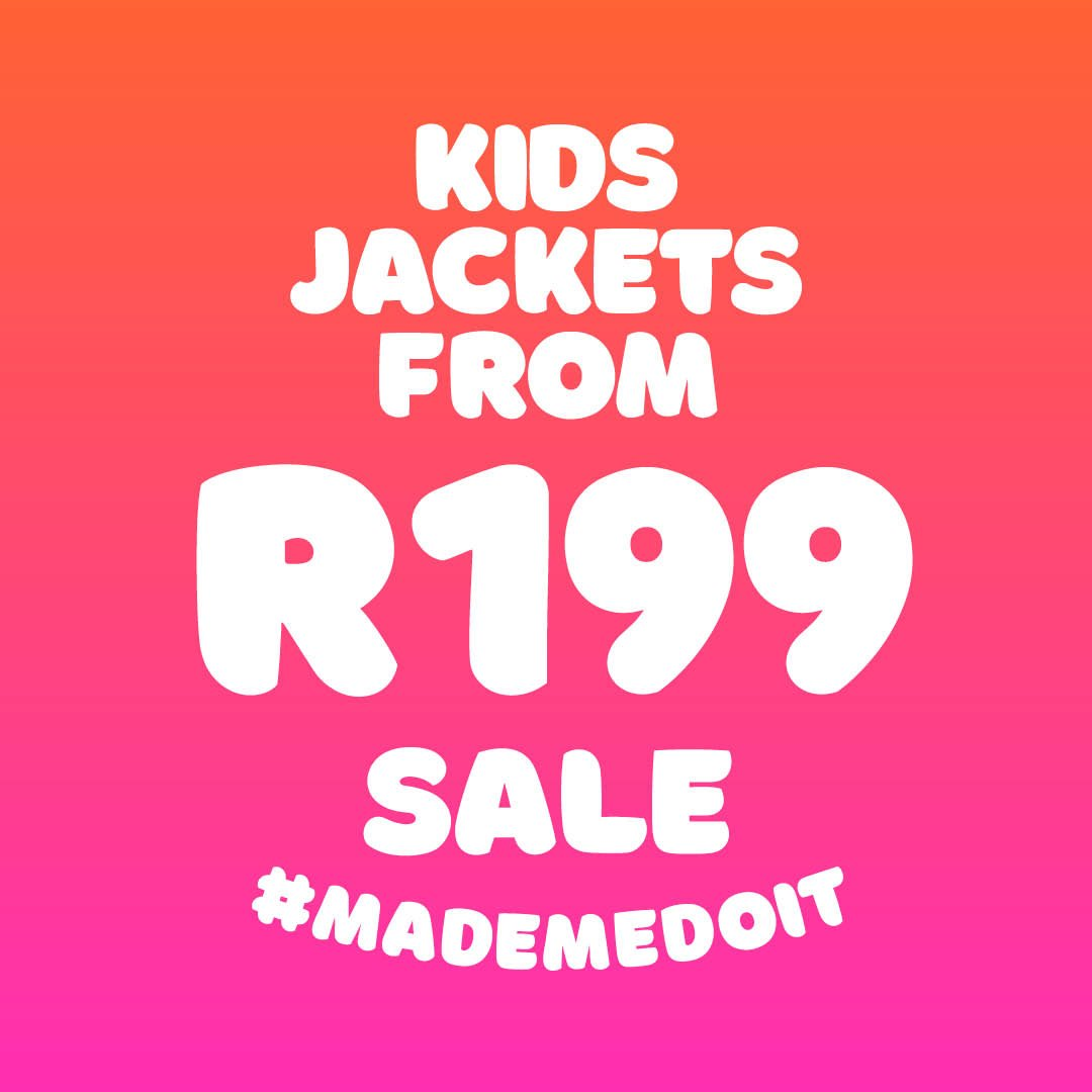 WINTER SALE JUST STARTED! UP TO 50% OFF kids jackets (ages 2-14) available from R199. Don't miss out get them in-store or online while stocks last!  https://t.co/qbo9WwWaRZ https://t.co/yN0yBqLM9q