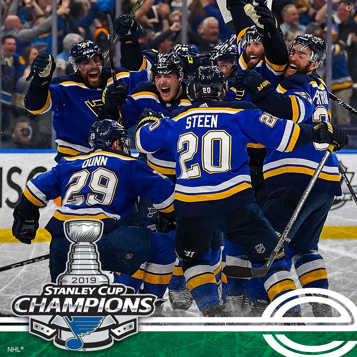 YOU DID IT @StLouisBlues! Congratulations 2019 #StanleyCup Champions! You've picked up an entire city with your never-ending effort, resolve and teamwork. (And in the inaugural year of the @Enterprise_Cntr, no less!) We couldn't be prouder!